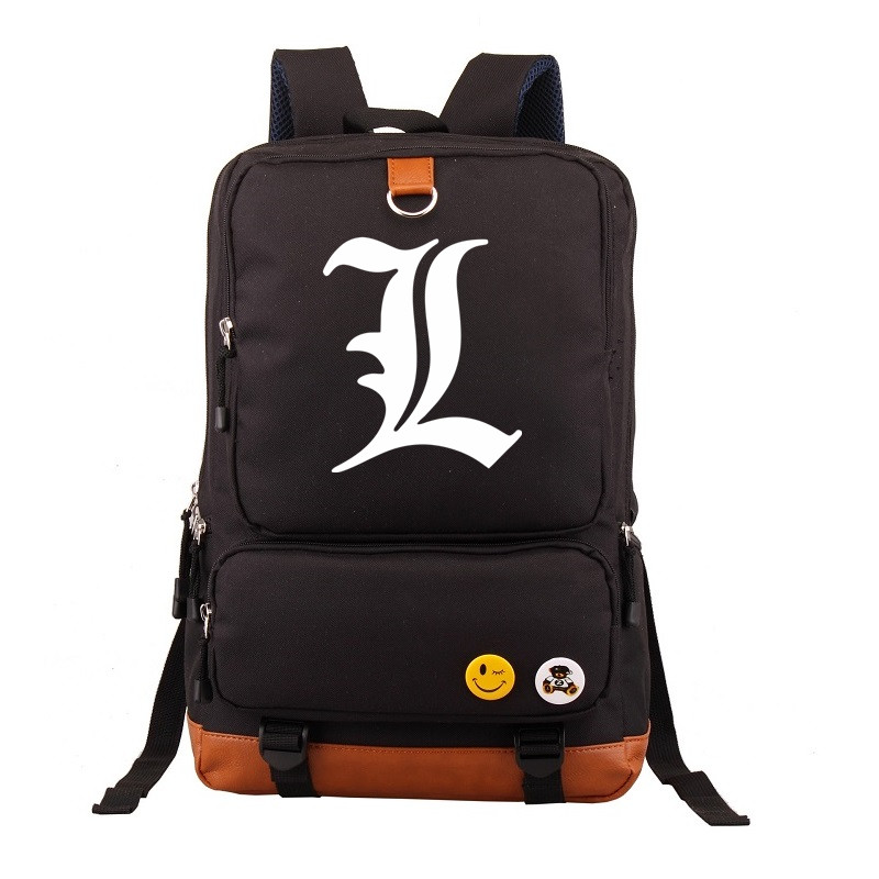 Anime Death Note Printing Backpack Students School Bags Men Laptop Backpacks Women Bagpack Computer Bag high quality anime death note luminous printing backpack mochila canvas school women bags fashion backpacks for teenage girls