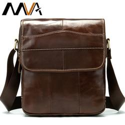 MVA Messenger Bag Men's Shoulder Bag Men's Genuine Leather Crossbody Bags for Men Leather Casual Small Flap for ipad/ book 1121