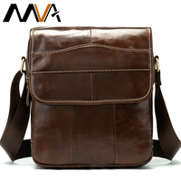 MVA Messenger Bag Men's Shoulder Bags Genuine Leather Casual Small Flap for ipad/ book Crossbody Bag for Men Leather bags 1121