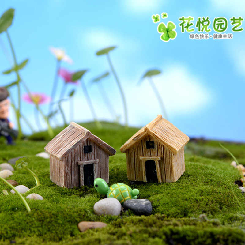 ZOCDOU 1 ชิ้นไม้บ้านคลาสสิกไม้อาคาร Village จีน Seclusion งานฝีมือรูปเครื่องประดับตกแต่ง