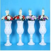 Trumpet vase wedding ceremony decoration road leading high end quality plastic sticky vase quality assurance