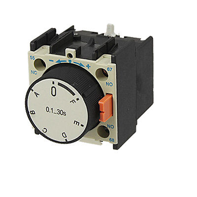 LA2-T2 Power On Air Time Timer Delay Head Contactor 180s ah3 3 power on delay timer time relay110vac plastic housing 8 pin