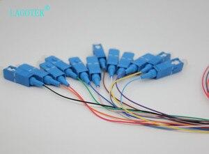 Image 3 - 10 teile/los 12 Farben SC/UPC SM (9/125) G652D, optische Faser Zopf Bündel Schwanz Faser Zopf Kostenloser Versand