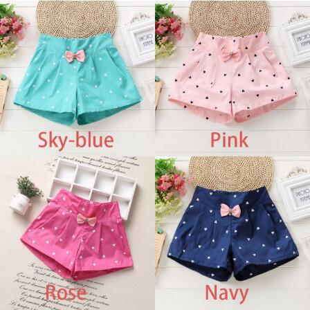 New Candy Color Baby girls   shorts   Print children   shorts   kids   shorts   for girls clothes toddler girl clothing for 2-10Y