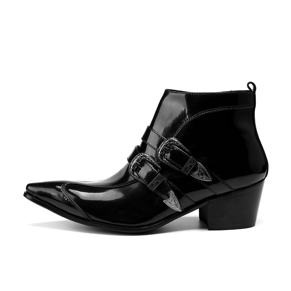 Nuevo Los Invierno Militares Casual Cuero Genuino Tamaño 47 Moda Zapatos Negro Hombres Cómodas 38 Botas Plus De rw4xdqnrEp
