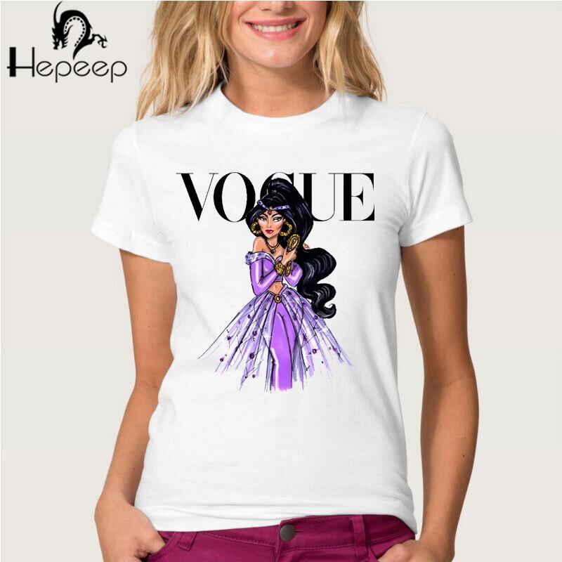 HTB1DeP6JVXXXXXRXFXXq6xXFXXXQ - Summer fashion women t-shirt VOGUE punk princess print T Shirt