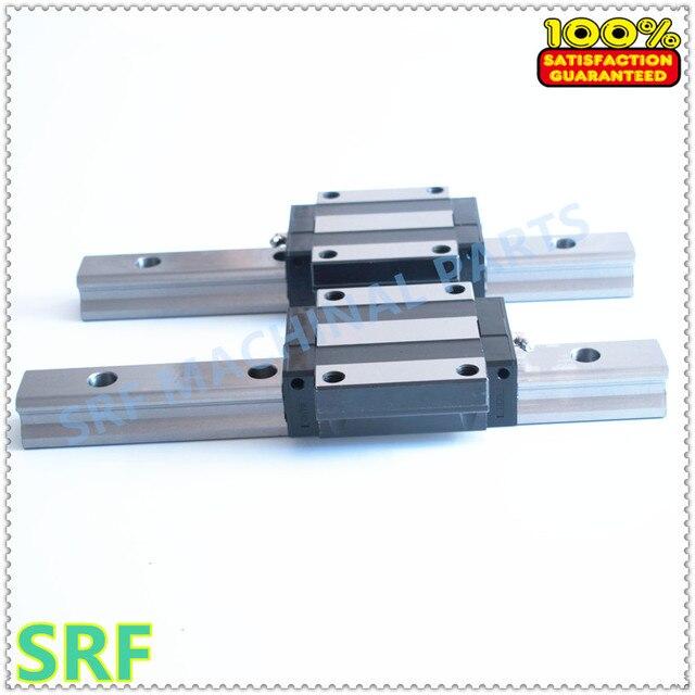 100% brandnew 1 pçs 15mm largura trilho de guia linear trh15 l = 1000mm com 2 pces trh15a linear trilho flange bloco para cnc