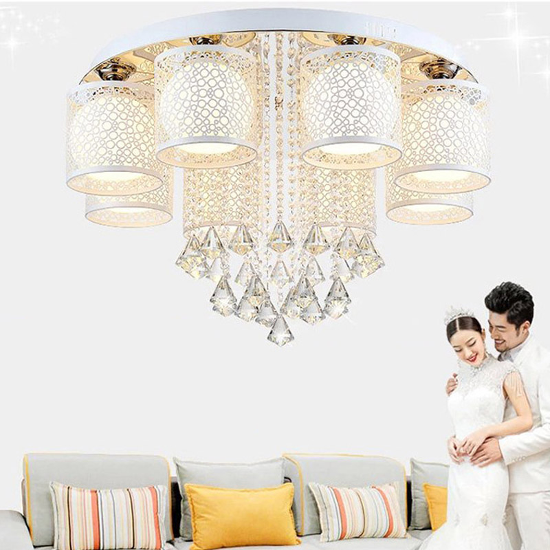 Crystal led lamp ceiling lights flush mount ceiling light fixtures modern ceiling crystal chandeliers with remote control