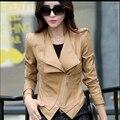 2016 Весной и Осенью новый женский кожаная одежда тонкий короткий дизайн PU плюс размер короткие блейзер куртка мотоцикла кожаная куртка