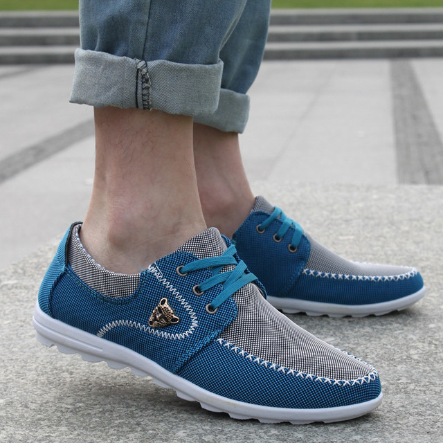 Zapatos casuales para hombre talla grande 39-46 zapatos de lona para Hombre Zapatos de conducción suave acolchado hombre calzado