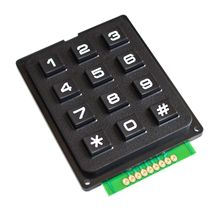 12 Key Membrane Switch Keypad 4 x 3 Matrix Array Matrix keyboard membrane switch keypad