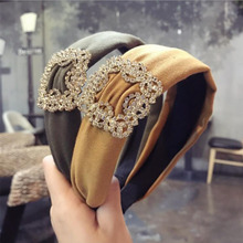 2019 Fashion Turban Womens Hairband High Quality Shining Rhinestone Headwear For Adult Women Hair Accessories Wholesale