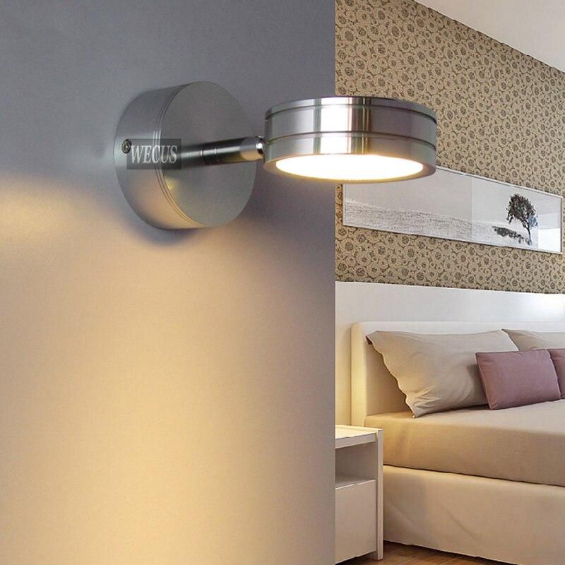 Lights & Lighting Modern Simplicity Led Wall Lamps Silver Bedroom Bedside Lamp Childrens Reading Corridor Light Direction Adjustable 5w Ac90-260v Led Lamps