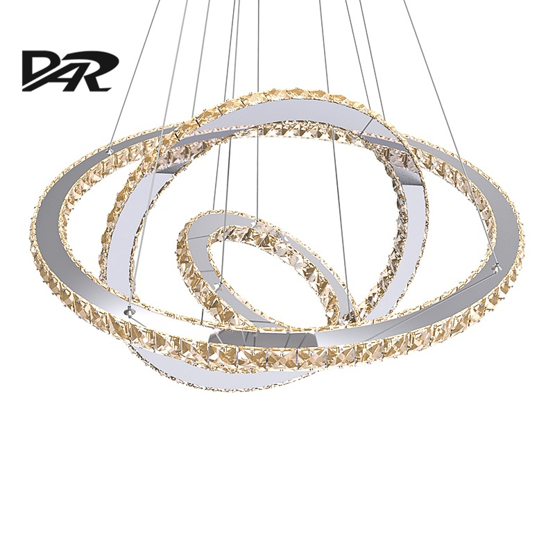Crystal Rings Led Pendant Lights For Living Room lamparas de techo Modern Pendant Lamp Fixture luminaires suspendus lustre lampe crystal modern led ceiling lights for living room bedroom kitchen lustre lamparas de techo avize crystal ceiling lamp fixtures