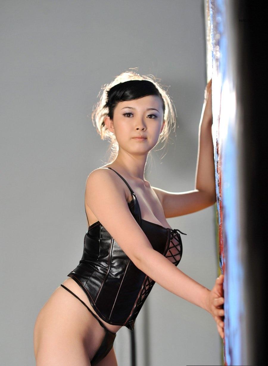 Sexy Lady Black Leather Latex Corsets Lingerie Bondage