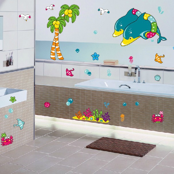 Aliexpress.com : Buy 1 set Removable PVC Decals Bathroom ...