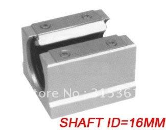 Free Shipping 10PCS/Lot SBR16UU CNC Linear Ball Bearing Support Unit Pillow Blocks  With Platen 16mm SBR Series free shipping 2pcs lot sc35vuu sc35suu linear case unit bearings