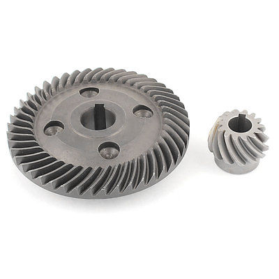 2 in 1 Power Tool Spiral Bevel Gear Wheel Set for Hitachi 180 Angle Grinder set of driven cambered angle gear