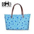 Мода Синий Цветочный 3D Печати Женщин Сумки Bolsos Mujer Большой Емкости Случайные Путешествия Сумка Цветок Crossbody Сумки Для Девочек