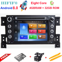 Android 8.0 Octa Core CPU 4GB RAM 32GB Flash Car DVD For SUZUKI GRAND VITARA 2005 2015 Radio GPS Navigation Stereo 4G SIM LTE