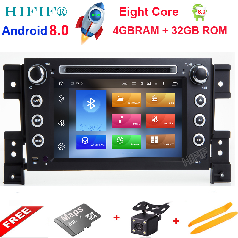 Android 8.0 Octa Core CPU 4GB RAM 32GB Flash Car DVD For SUZUKI GRAND VITARA 2005-2015 Radio GPS Navigation Stereo 4G SIM LTE коммутатор allied telesis at gs924m 50 20g управляемый