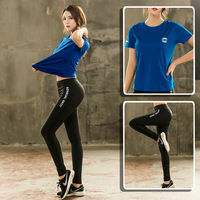 double11 Women's Yoga Sets Yoga Sports Legging Women Fitness Gym Tshirt Yoga Bra Running Sets Exercise Workout Clothes Tracksuit