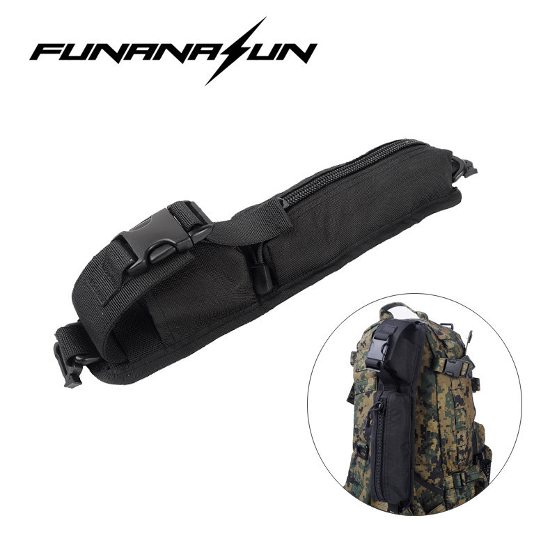 Tactical Molle Accessory Pouch Backpack Shoulder Strap Bag Outdoor Travel Hiking Hunting Rucksack Belt EDC Gear Bag outdoor 5pcs set molle strap backpack bag webbing connecting buckle clip military backpack accessory edc gear travel kits