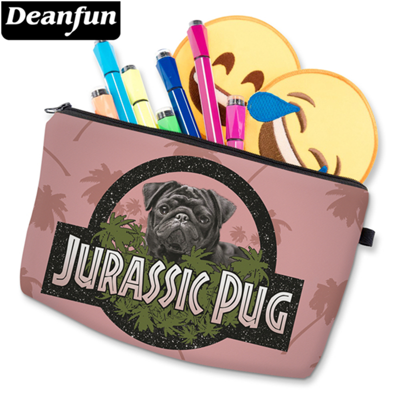 Deanfun 3D Printed Cosmetic Bags Pug Pink Women Makeup Organizer for Travelling Dropshipping 50132