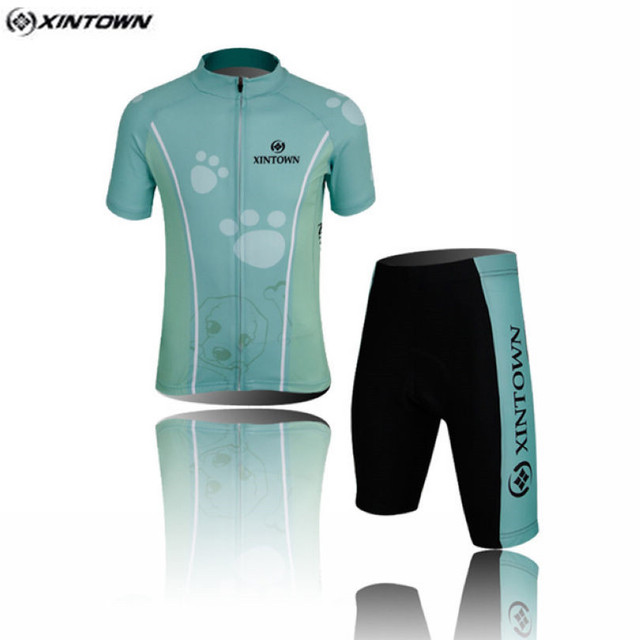 Hot XINTOWN Kids Bike Jersey Shorts Sets Light Blue Children Cycling  Clothing Team Bicycle ciclismo Boys mtb Shirts Top Suits 2a7c6ea51