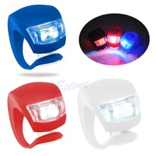 Bike Bicycle Cycling Waterproof 2 Leds Fog Lamp Front Flash Light Set Silicone