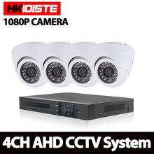 Hotting Full 4CH 1080P AHD Kit DVR NVR 4PCS 2.0mp 3000TVL HD Camera P2P Cloud Service CCTV System Video Surveillance Kit