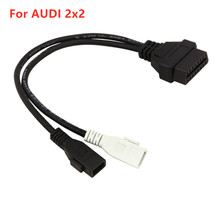 VAG Adapter For AUDI 2X2 OBD1 OBD2 Car Diagnostic Cable 2P+2P Fits Audi 2X2Pin to OBD2 16Pin Female Connector for VW/Skoda