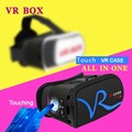 New all in one google cardboard touch VR CASE RK-A1 Virtual Reality Wireless Bluetooth VR box Head Mount Gamepad 3D Glasses