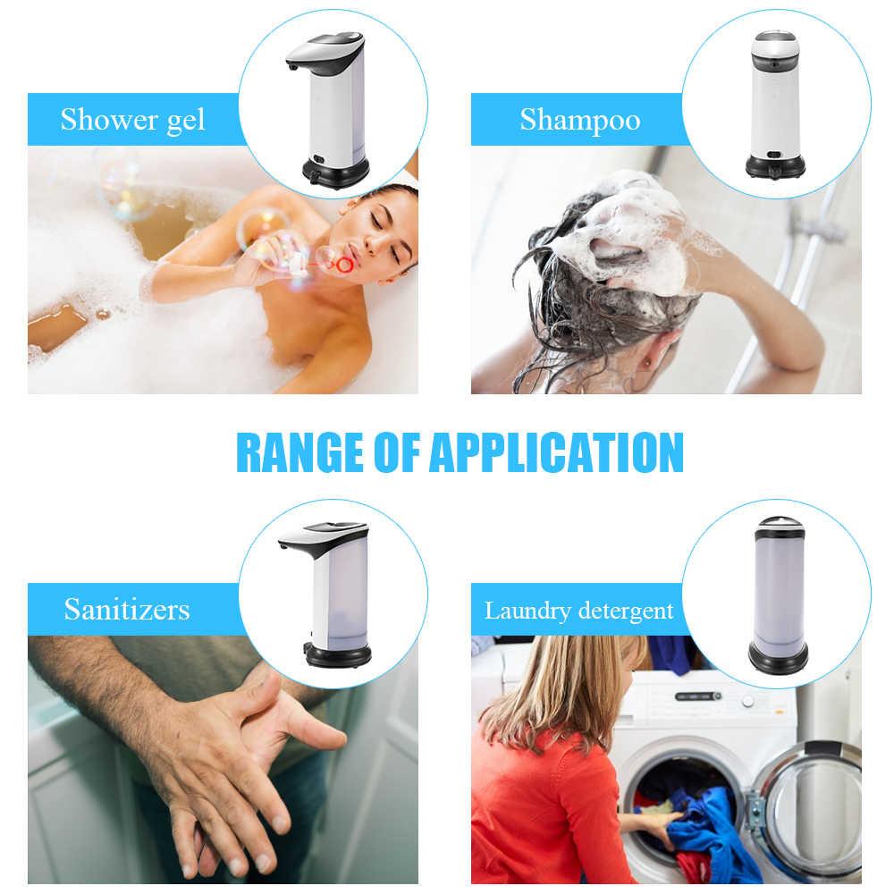 420ML ביתי אוטומטי נוזל סבון Dispenser Touchless חיישן סבון מכשירי משאבת מקלחת מטבח סבון בקבוק לרחצה