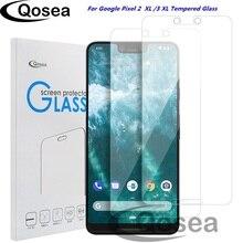 Qosea 10 Pcs Screen Protector กระจกนิรภัยสำหรับ Google Pixel 3 XL ป้องกัน 9H Ultra thin Clear สำหรับ google Pixel 2 XL ฟิล์ม