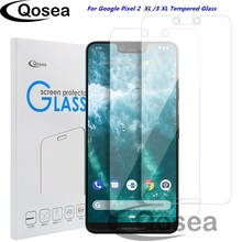 Qosea 10 Pcs Screen Protector Tempered Glass For Google Pixel 3 XL Protective 9H Ultra thin Clear For Google Pixel 2 XL Film
