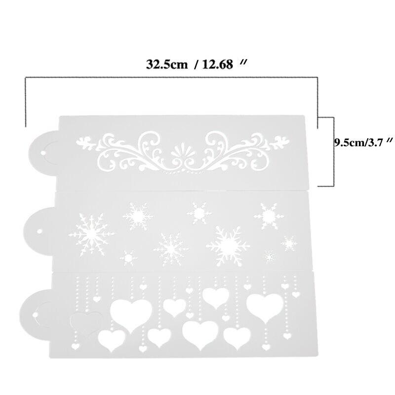 3 pcs / Lot Baru Populer Desain Stencil Fondant Cake Decorating Alat - Dapur, ruang makan, dan bar - Foto 3