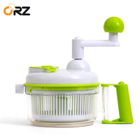 ORZ Manual Meat Grinder Multifunctional Food Processor Mixer Fruit Vegetable Garlic Chopper Cooking Tools Hand Grinder