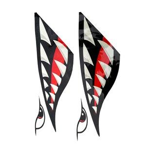 Image 4 - 2 Pcs Wasserdichte DIY Lustige Rudern Kajak Boot Shark Zähne Mund Aufkleber Vinyl Aufkleber Aufkleber Für Kajak Kanu Boot Links & rechts