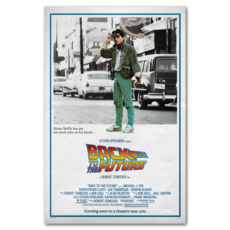 Back to the future Car 1 2 3 Classic Movie Art Silk Poster Print 13x20 Pictures For Living Room Wall Decoration 017