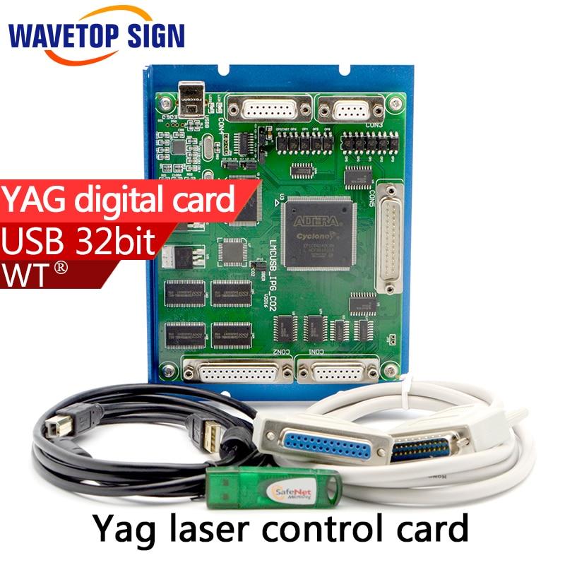 yag laser control card usb port analog/ digital  signal  ezcad software