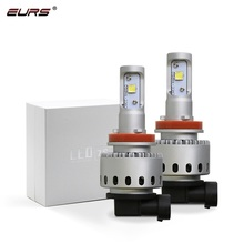 EURS 7S H4 H7 Led Car Headlight Automobile LED Bulb XHP50 80W 8000LM H1 H11 9005
