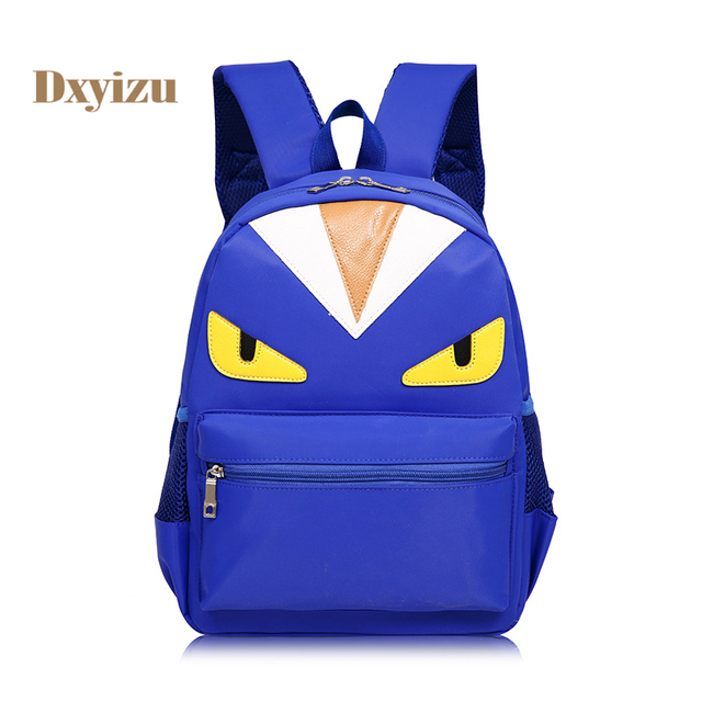 d1c613e12b75 High-capacity Durable Waterproof School Bags Cartoon Monster Backpacks for 3 -7 Years Old Character Child Bags for Schoolchild