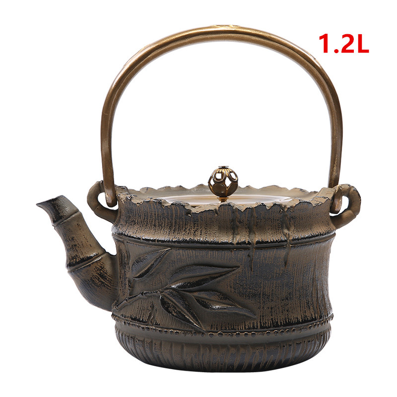 Ferro fundido Bule de Chá Conjunto Bule de Chá Japonês Tetsubin Chaleira Ferramentas Drinkware Kungfu Jogo de Chá Chaleira 1.2L Teaware-Y0095