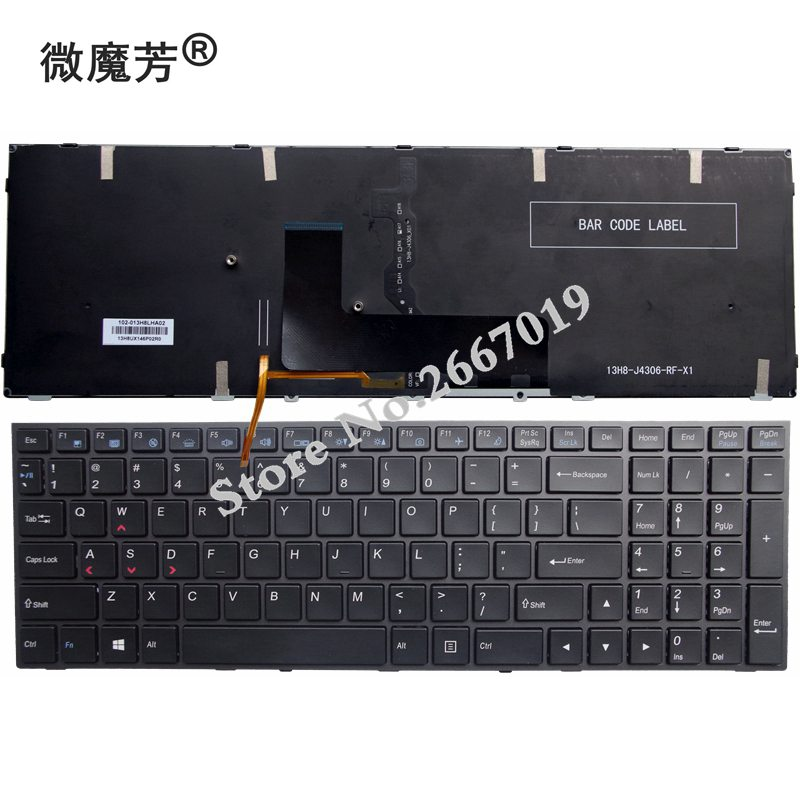 US Backlit New FOR CLEVO P651 P651SE P655 P671 P655SE P671SG P650 P651 P650SA P650SE P651SG Laptop Keyboard stylish elastic waist solid color voile culotte for women