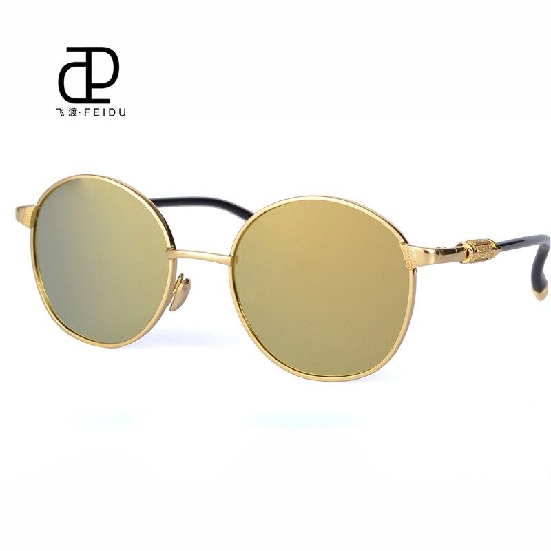 Feidu Steampunk Gafas de sol aleación redonda Marcos espejo moda ...