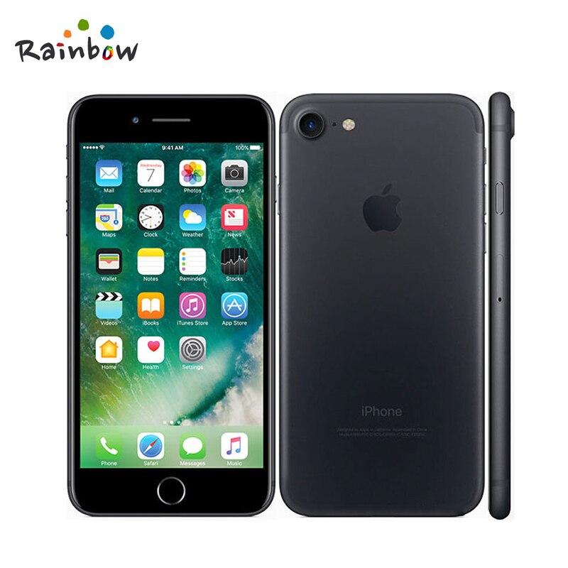 Apple iphone 7 original ios 2gb ram, câmera de 12.0mp e vídeo em 4k, 4g lte com id de toque de impressão digital 2