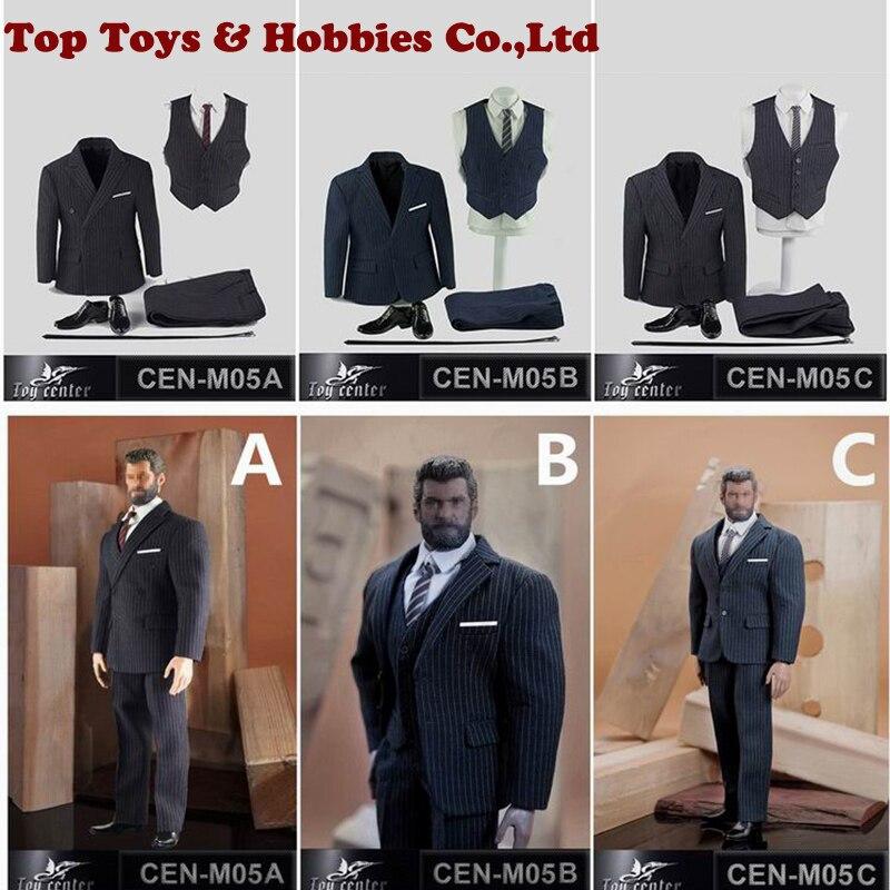 3 Colors 1/6 Action Figure Clothing Set 1:6 Scale Professor Gentleman Suit Set For TBLeague Phicen M34 Male Figure Body Toy