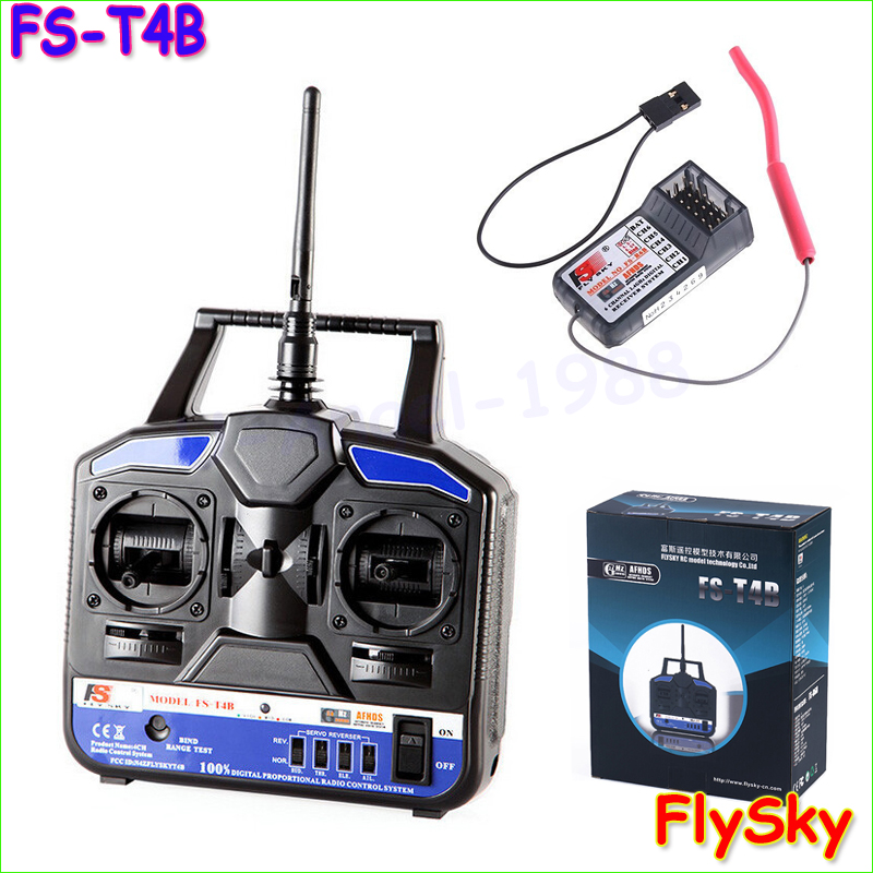 ФОТО 1pcs Original Flysky RC Helicopter Airplane Remote control FS 2.4G 4CH FS-CT4B FS-T4B Radio RC Transmitter & Receiver