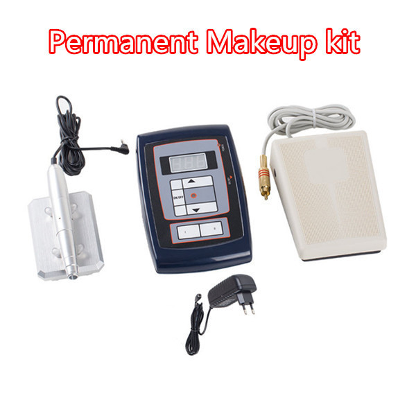 2015New Tattoo Kits Permanent Eyebrow Lip Makeup Rotary Tattoo Machine Kits professional Set  Free Shipping